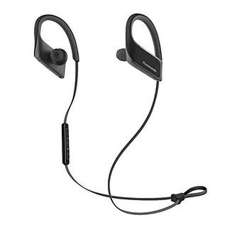 Panasonic Wings Wireless Bluetooth Sports Clip Headphones w/ Mic (Black)