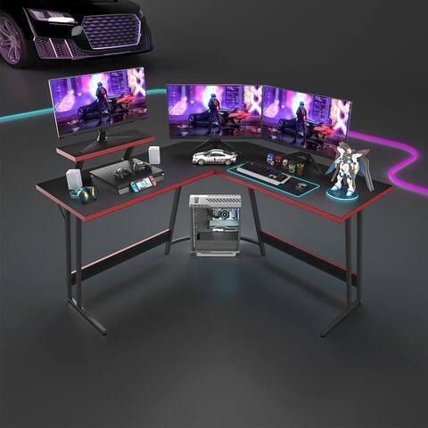 L-Shaped Gaming Desk Computer Corner Desk Office Writing Desk