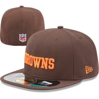 NFL Mens Cleveland Browns On Field 5950 Brown Game Cap By New Era - 7