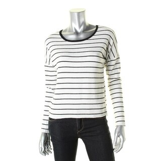 Nation by Jen Menchaca Womens Crop Sweater Striped Cropped