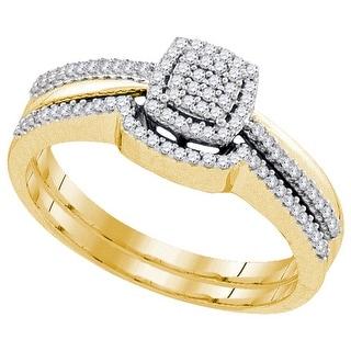 1/4Ctw Diamond Bridal Engagement Ring 10K Yellow-Gold