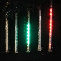 "Snowfall - Set of 5 Single-Sided 6"" LED Christmas Icicle Light Tubes - Multi"