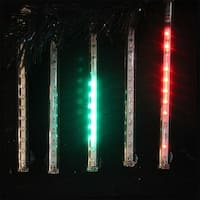 "Snowfall - Set of 5 Single-Sided 7"" LED Christmas Icicle Light Tubes - Multi"
