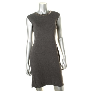 Lauren Ralph Lauren Womens Embellished Sleeveless Wear to Work Dress - S