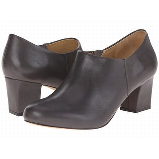Trotters NEW Dark Gray Shoes Size 8.5N Ankle Leather Booties
