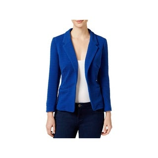 Kensie Womens One-Button Blazer Ribbed Long Sleeves
