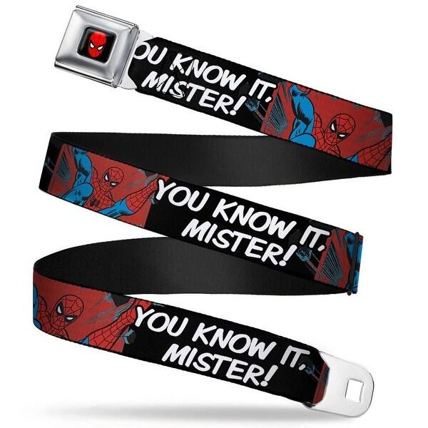 Marvel Comics Spider Man Full Color Spider Man You Know It, Mister! Webbing Seatbelt Belt