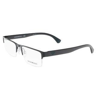 Emporio Armani EA1050 3001 Matte Black Rectangle Optical Frames - MATTE BLACK - 53-18-140