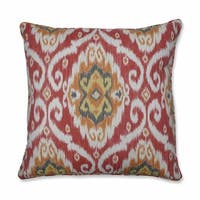 """25"""" Orange and Gray Damask Patterned Square Floor Pillows"""