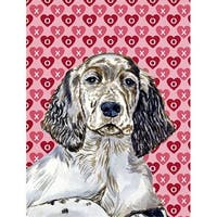 28 x 40 in. English Setter Hearts Love And Valentines Day Portrait