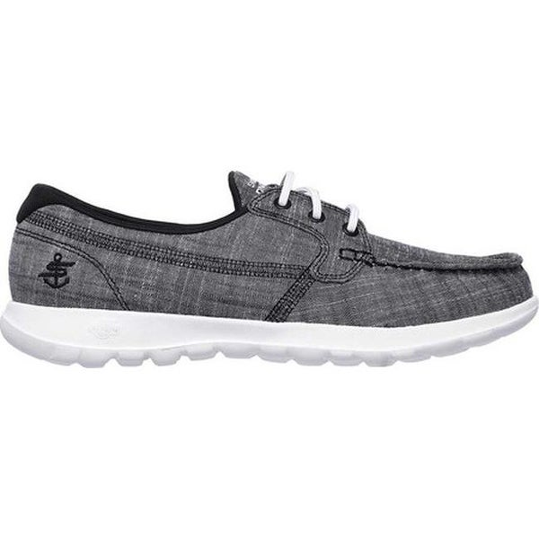 Shop Skechers Women's GOwalk Lite Isla Boat Shoe BlackWhite