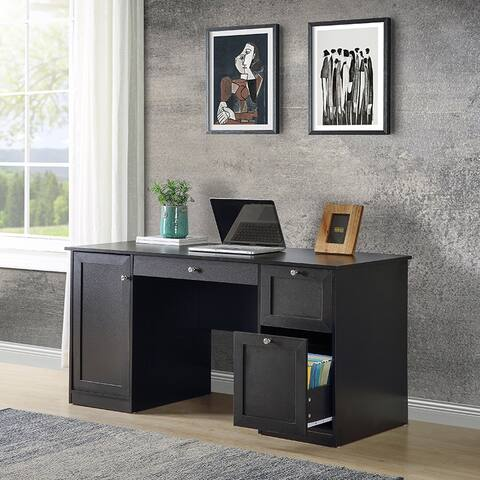 Home Office Computer Desk with 2 Drawers/Pullout Keyboard/ Storage cabinet