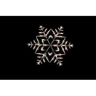 Christmas home decorations for less for 16 lighted snowflake christmas window silhouette decoration