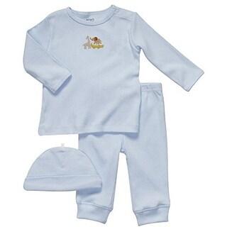 Carter's Baby Boys' 3 Piece Blue Safari Animals Set (9 Months)
