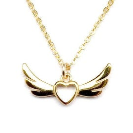 Julieta Jewelry Wings With Heart Charm Necklace