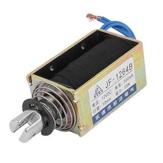 Unique Bargains JF-1264B DC12V 500mA 10mm 55N Push Pull Type DC Solenoid Electromagnet Magnet