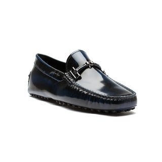Tod's Men's Leather Doppia T Pelle Gommini Nuovo Driving Shoes Black