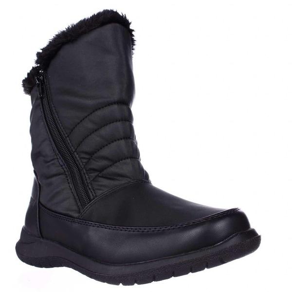 Weatherproof Alex Mid-Calf Faux Fur Lined Winter Boots, Black