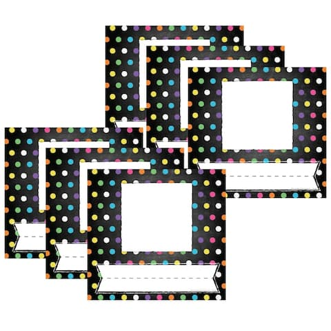 Chalkboard/Dots Picture Plates, 32 Per Pack, 6 Packs - One Size