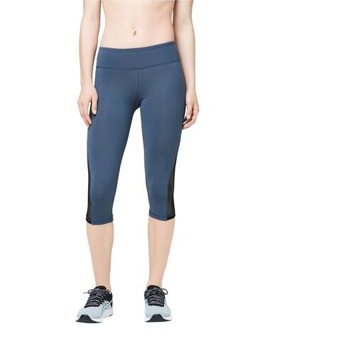 Aeropostale Womens Mesh Insert Yoga Pants, grey, X-Large