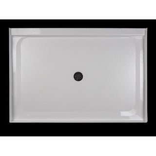 "Jacuzzi CAT6042SCXXXXW Catalina 60"" X 42"" Rectangular Shower Pan with Single, Low-Barrier Threshold with Center Drain"