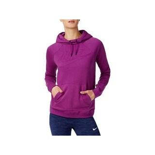 Nike Womens Hoodie Ribbed Trim Long Sleeves - XS