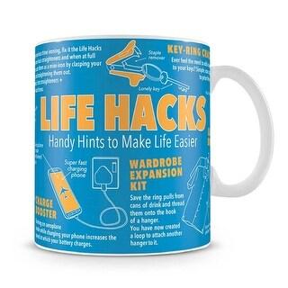 Life Hacks Giant Mug, More Humor by 50 Fifty