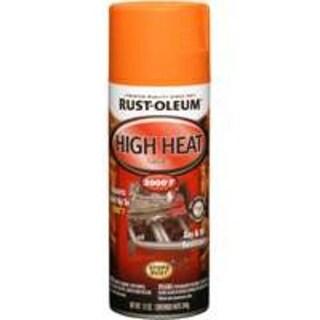 Rust-Oleum 248905 High Heat Spray Paint 12 Oz, Flat Orange
