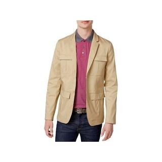 Calvin Klein Mens Safari Field Coat Slim Fit Long Sleeves - XL