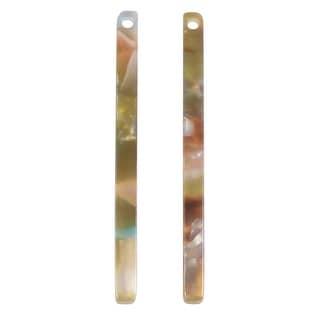 Zola Elements Acetate Pendant, Mermaid Bar Drop 3x38.5mm, 2 Pieces, Multi-Colored