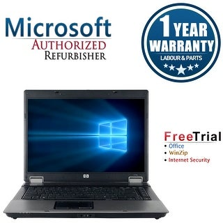"Refurbished HP Compaq 6730B 15.4"" Laptop Intel Core 2 Duo P8600 2.4G 4G DDR2 160G DVD Win 10 Pro 1 Year Warranty - Black"