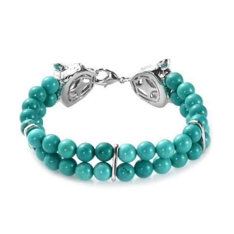 Green Turquoise Bracelet Size 6.5 Inch Ct 64 - Bracelet 6.5''