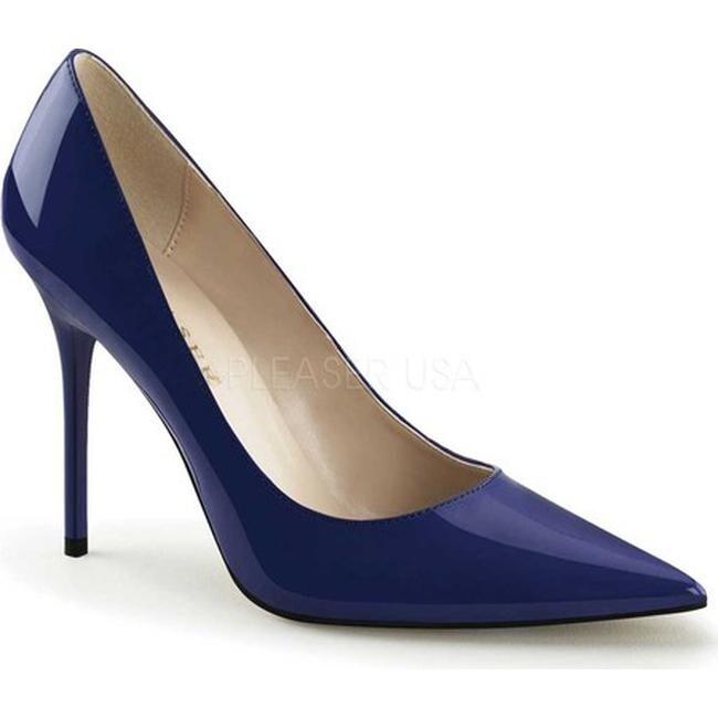 36437a6103917 Pleaser Women's Classique 20 Pump Navy Blue Patent