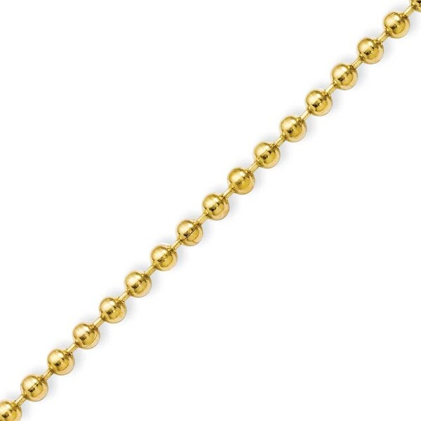 Stainless Steel IP Gold-plated 3.0mm 22in Ball Chain (3 mm) - 22 in