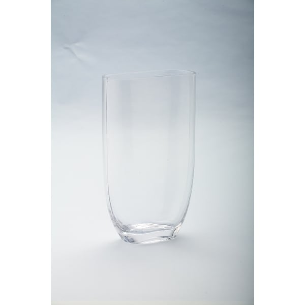 """8.5"""" Clear Solid Tapered Oval Shaped Vase - N/A"""