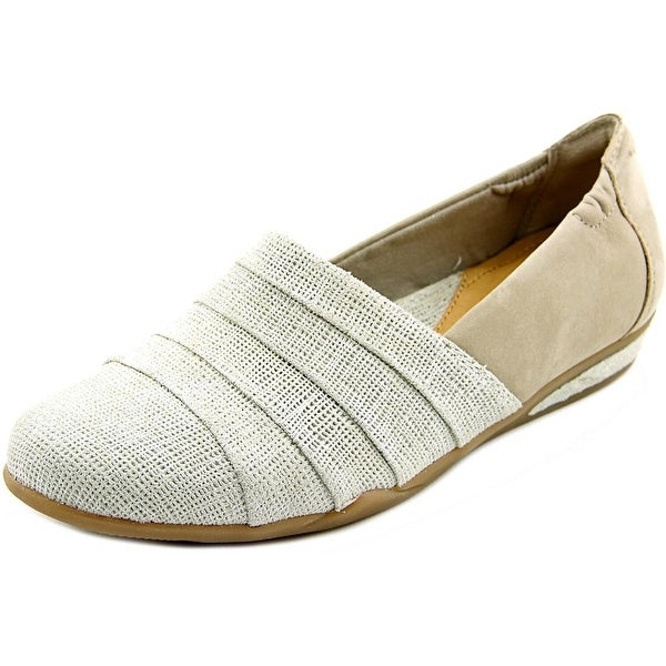 Earth Marsala Women Round Toe Leather Gray Loafer