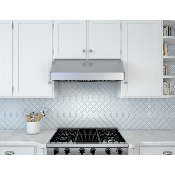 Zephyr AK7042B 650 CFM 42 Inch Wide Under Cabinet Range Hood From The  Tempest I Series