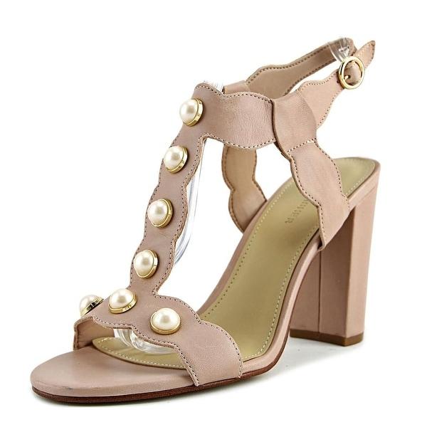 Marc Fisher Kaylee Women Open-Toe Leather Pink Heels