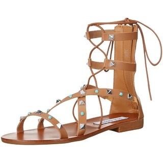 Steve Madden Brown Studded Sunner Women's 8M Gladiator Sandals