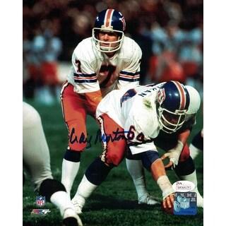 Craig Morton Autographed Denver Broncos 8x10 Photo Under Center JSA