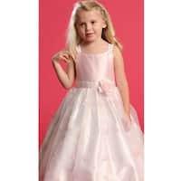 Angels Garment Pink Faux Shantung Flower Girl Occasion Dress 2T-6