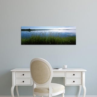 Easy Art Prints Panoramic Image 'Tall grass at riverbank, Cape Breton Island, Nova Scotia, Canada' Premium Canvas Art
