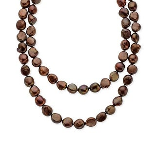 Honora 36-Inch Chocolate 10.5-11.5 mm Baroque Freshwater Pearl Strand with Sterling Silver Clasp