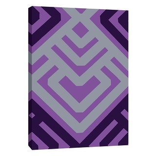 "PTM Images 9-108762  PTM Canvas Collection 10"" x 8"" - ""Monochrome Patterns 6 in Purple"" Giclee Abstract Art Print on Canvas"