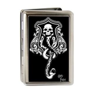 Harry Potter Dark Mark Symbol Fcg Black Gray White Business Card Holder - S