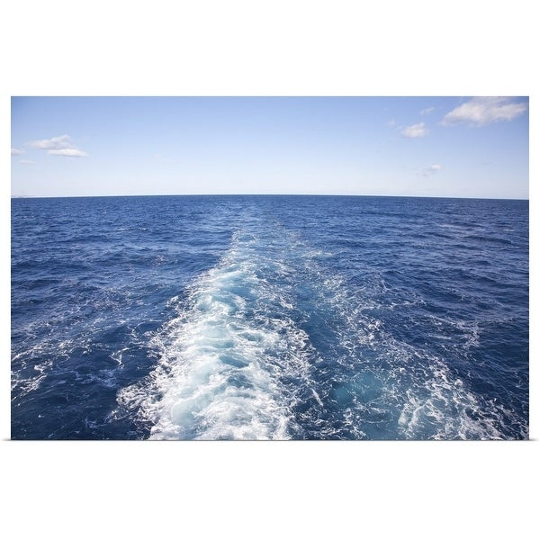 """""""Ship's wake from cruise ship"""" Poster Print"""