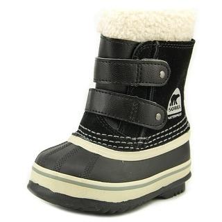 Sorel 1964 Pac Women Round Toe Leather Black Snow Boot