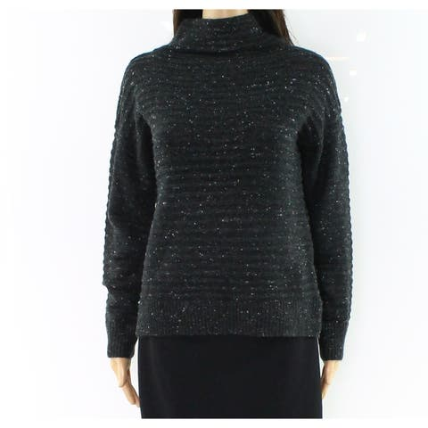 Madewell Womens Mock Neck Ribbed Stretch Sweater