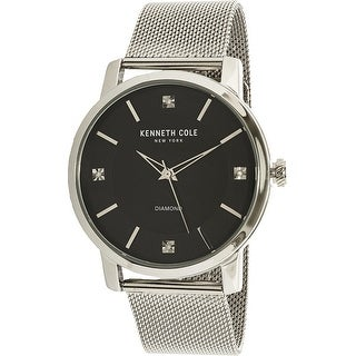 Kenneth Cole Men's Silver Stainless-Steel Analog Quartz Dress Watch