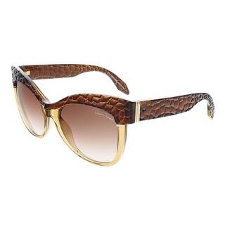 Roberto Cavalli RC740S/S 50F TETI Brown Translucent Cat Eye sunglasses - brown translucent - 56-16-135
